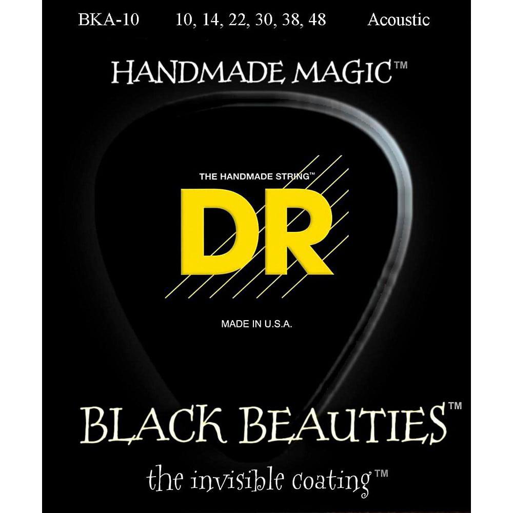 DR Strings Black Beauties Acoustic Guitar Strings Extra Lite by DR Strings