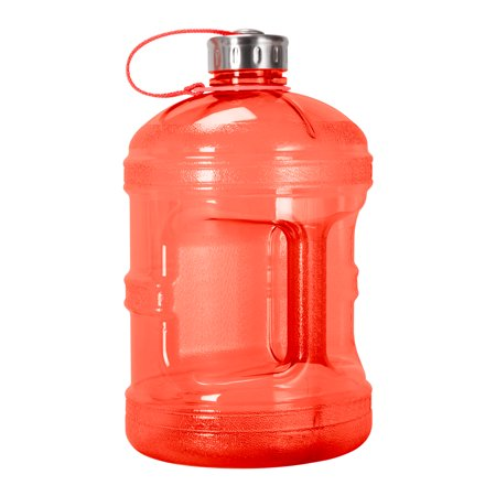 - 1 Gallon (128oz) BPA Free Reusable Drinking Bottle w/48mm Steel Cap