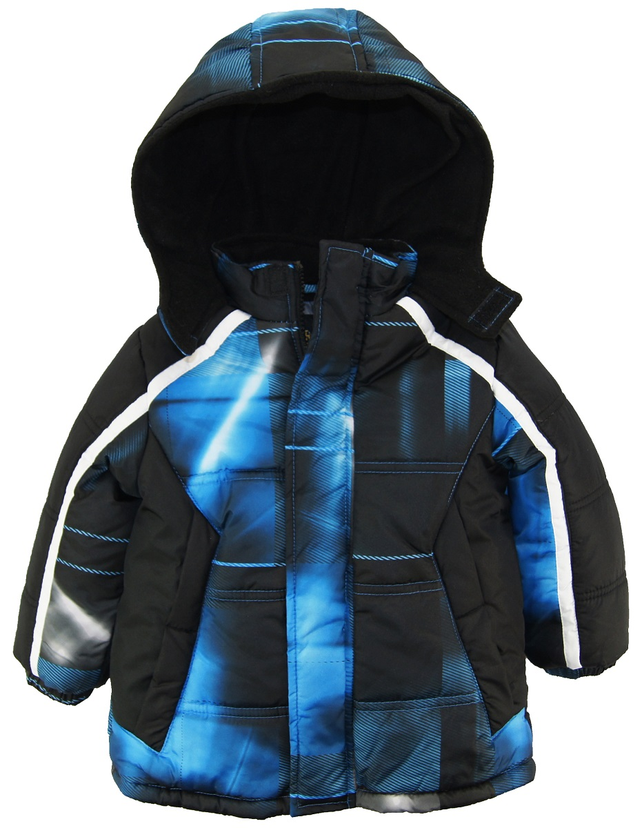 Ixtreme Toddler Boy Plaid Coat Source Hooded Fleece Lined Winter Puffer Jacket
