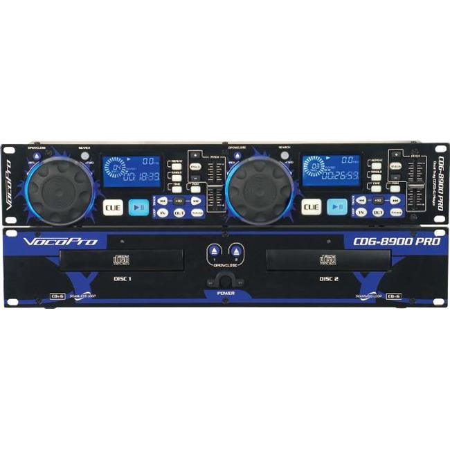 VocoPro CDG8900PRO Professional Dual Tray CD-CDG Player