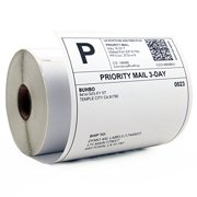 """Buhbo DYMO 4XL Compatible 4"""" x 6"""" Shipping Label 1744907, White (220 Per Roll)"""