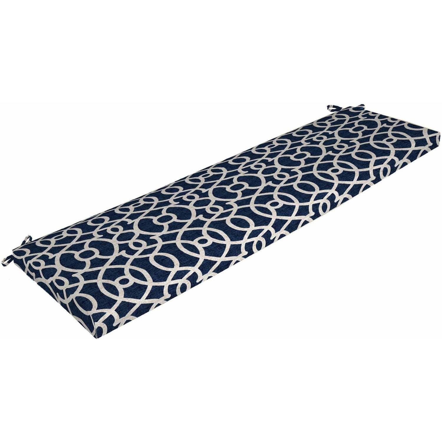 Mainstays Outdoor Patio Bench Cushion Multiple Patterns