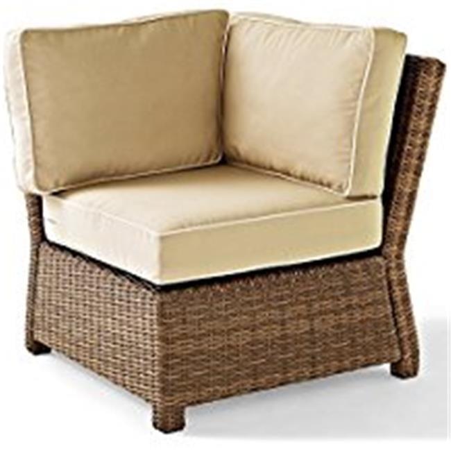Bradenton Outdoor Wicker Sectional Corner Chair, Sand