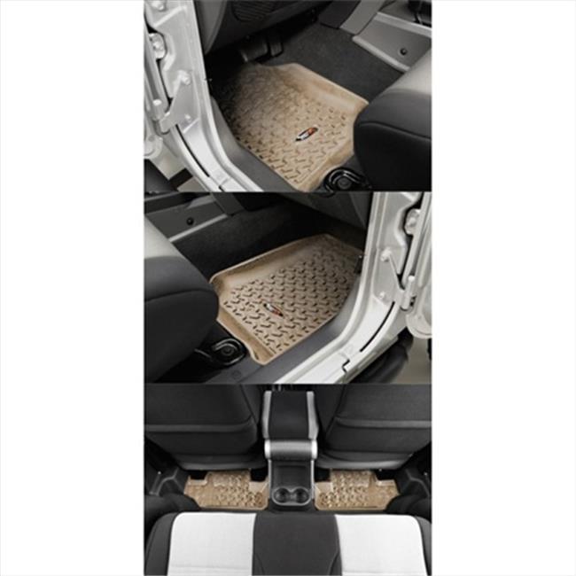 Rugged Ridge 13987.02 Four Piece Tan Floor Liner Set For 07-10 Wrangler 2 Door JK - image 1 of 1