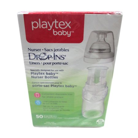 - Playtex Nurser System Drop Ins Disposable Bottle Liners - 4 Oz, 50 Ea
