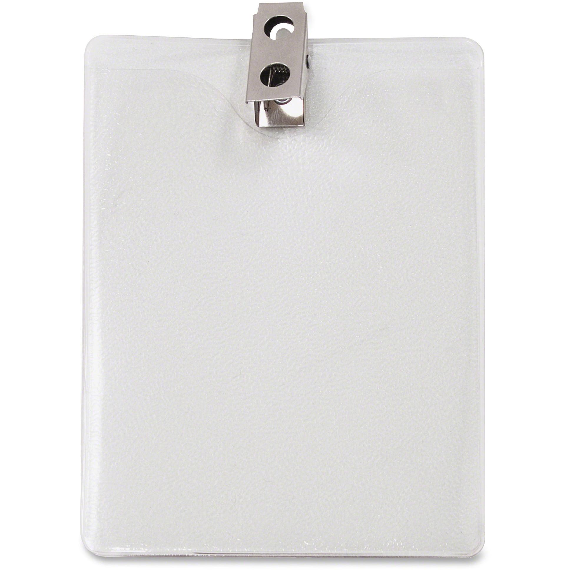 Advantus ID Badge Holder w Clip, Vertical, 3w x 4h, Clear, 50 Pack by Advantus Corp