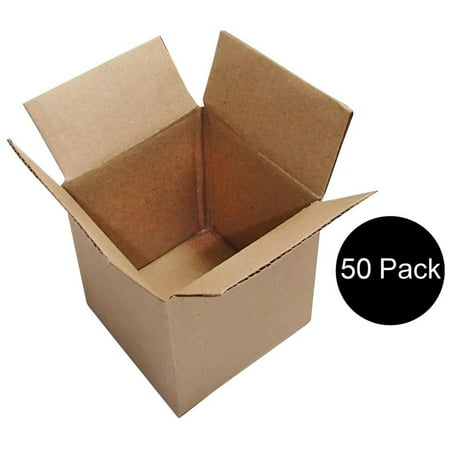 50 4x4x4 Cardboard Packing Mailing Moving Shipping Boxes Corrugated Box - 4x4x4 Boxes