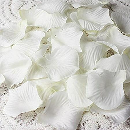 Cozyswan 4000 Silk Rose Petal ivory white Wedding Decorations Petals Artificial Petals Ivory Rose Petals