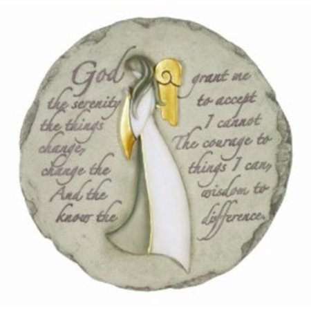 Spoontiques Angel with Serenity Prayer Stepping Stone Multi-Colored