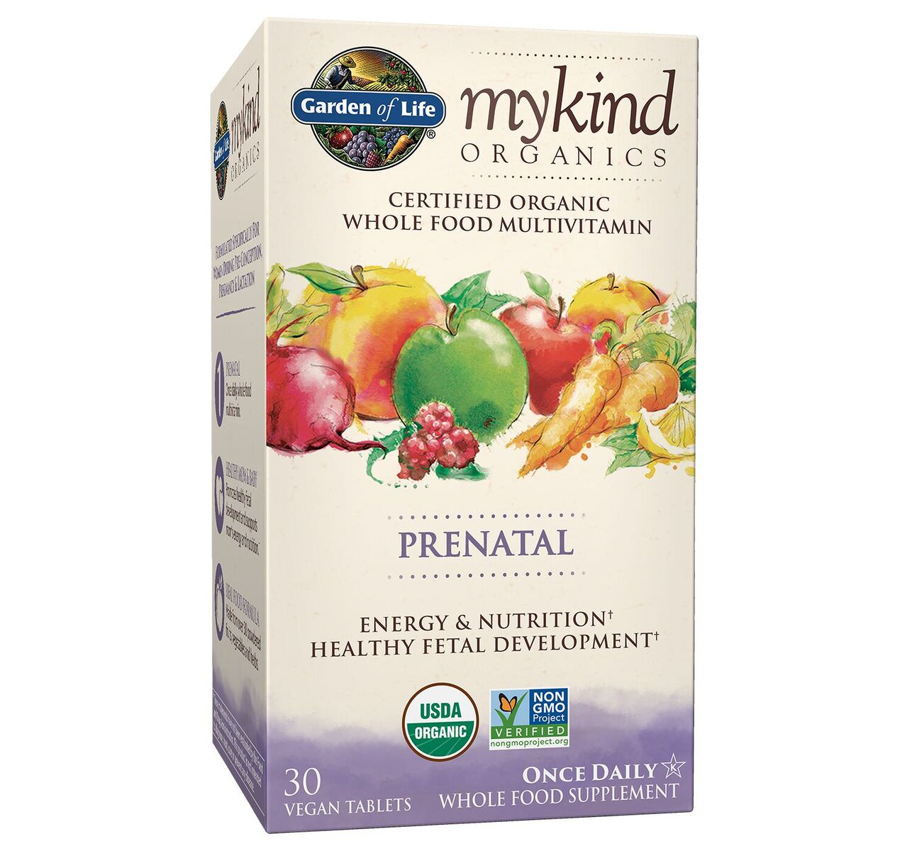 Garden of Life mykind Organics Prenatal One a Day Multivitamin, 30 Ct