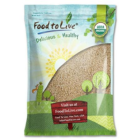 Food To Live  Organic Royal White Quinoa (Raw, Whole Grain, Non-GMO, Bulk) (20 (Eden Organic Whole Grain)