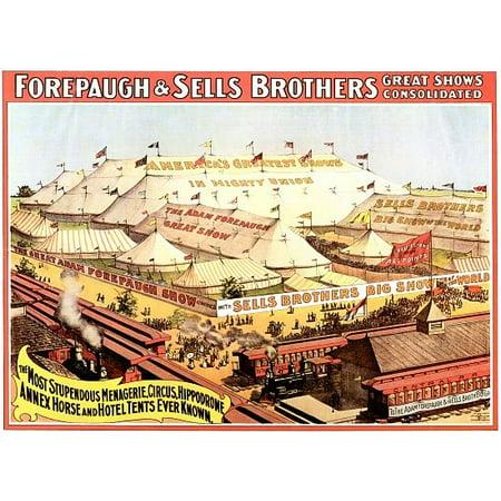 Circus Canvas (Stupendous Menagerie Circus Hippodrome Canvas Art -  (18 x 24) )
