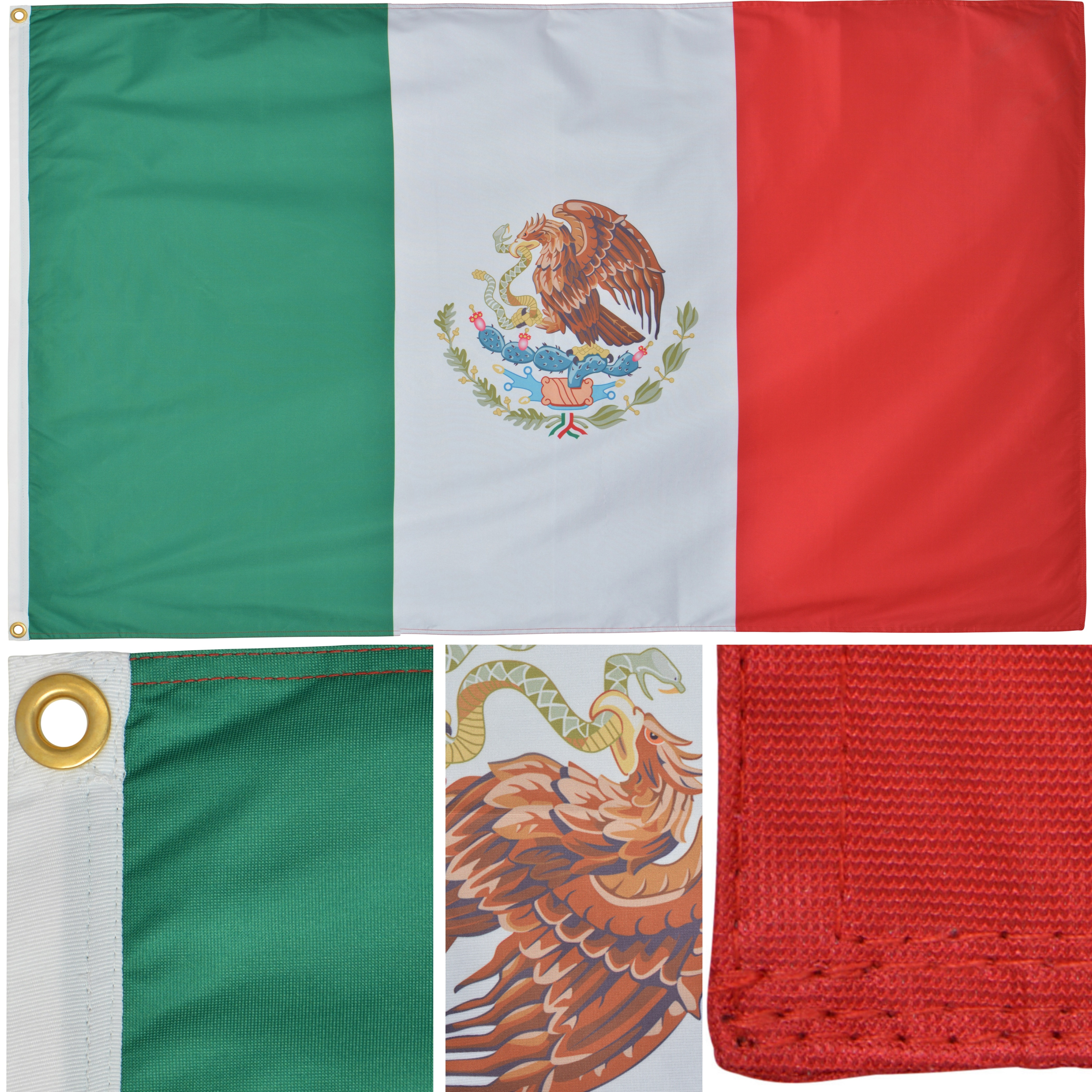Mexico 3x5 Ft 130g Premium Polyester Outdoor Mexican Flag