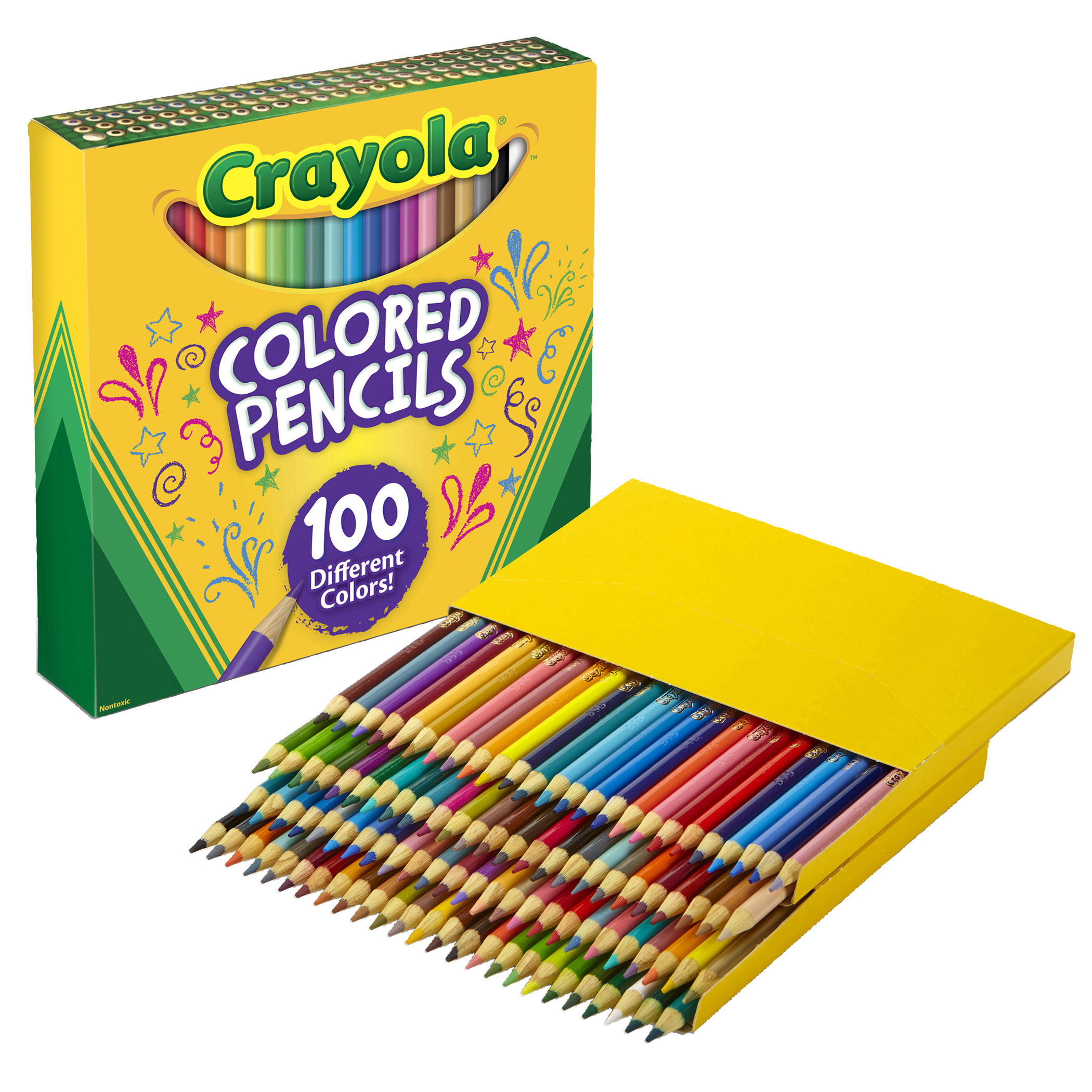 Crayola® 100 Count Colored Pencils, Perfect for Back-to-School