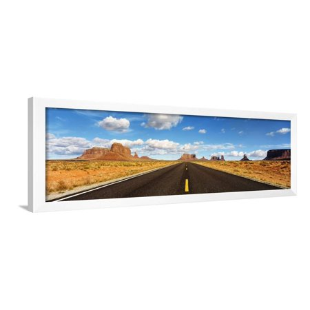 Road, Monument Valley, Arizona, USA Framed Print Wall Art - Monument Valley Usa Framed