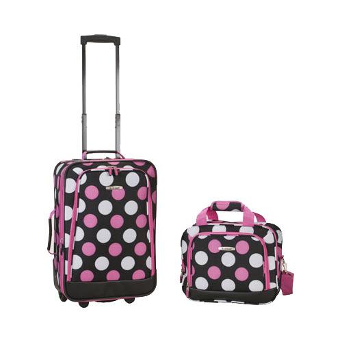 """Rockland 2 Piece Luggage Set F102  13"""" x 7.5"""" x 19""""; 12"""" x 11"""" x 5.5"""""""