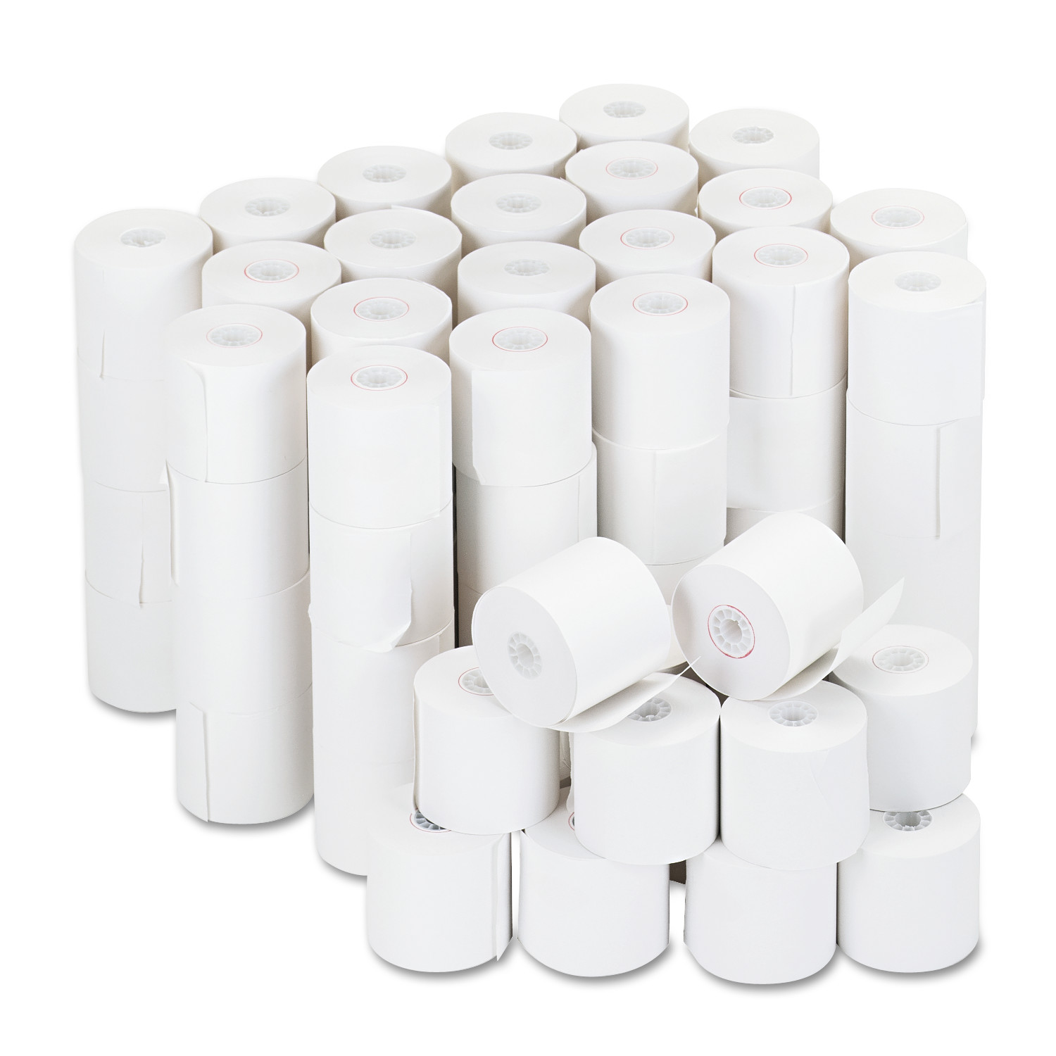 "Universal Adding Machine/Calculator Roll, 16 lb, 1/2"" Core, 2-1/4"" x 126 ft,White, 100/CT"