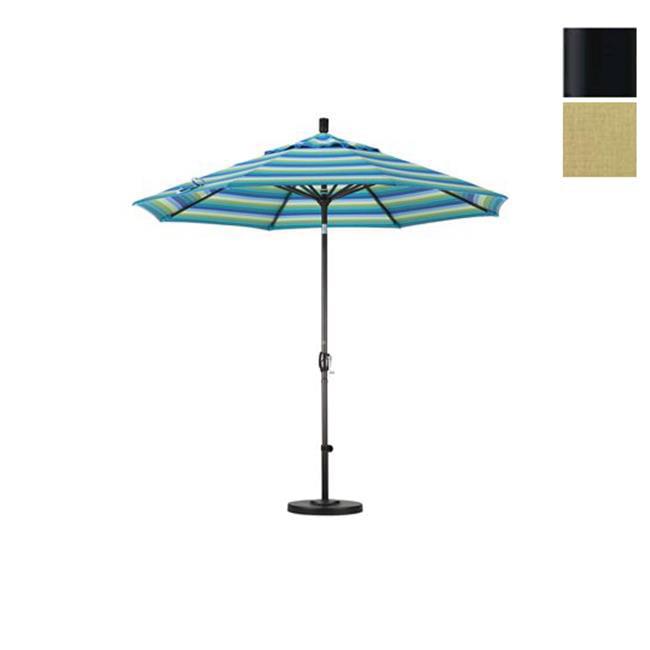 108 in. Aluminum Market Umbrella (M Black and Sunbrella Heather Beige) by