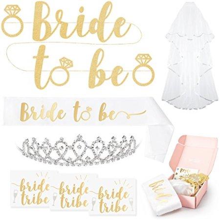 fetti bachelorette party bride to be decorations kit bridal shower supplies sash