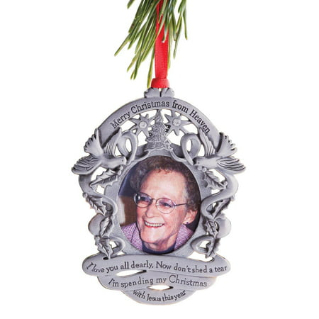 Silver Photo Ornament (Merry Christmas From Heaven(R) - Photo Remembrance Ornament)