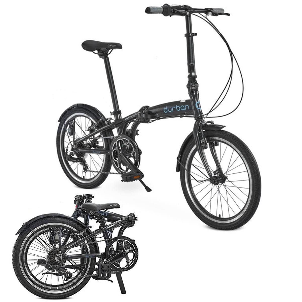 Durban Sampa XL Folding Bike Shimano Black Bicycle Adults...