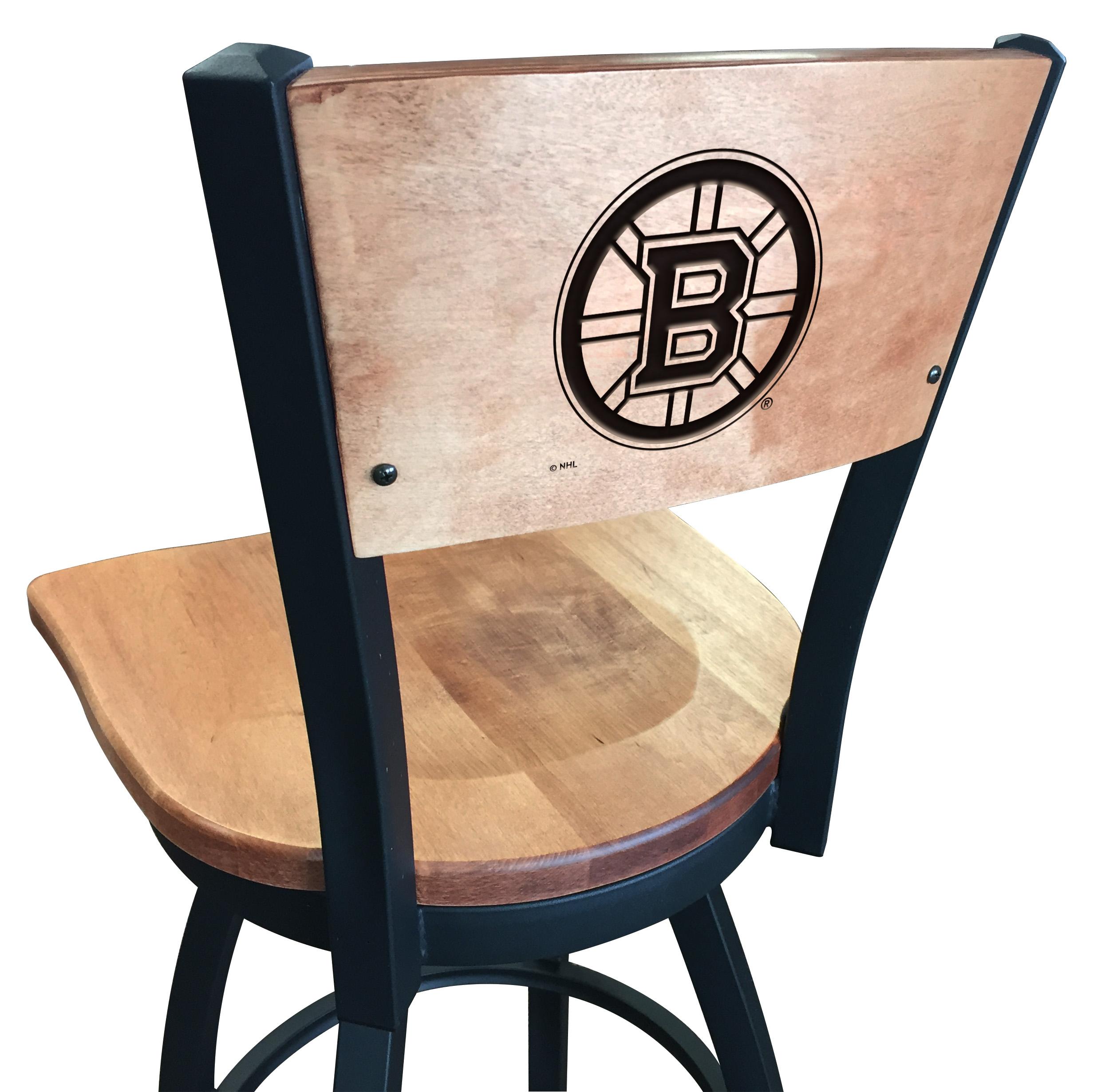 """Calgary Stool Cushion Swivel Seat - 25"""" Engraved Logo Back"""