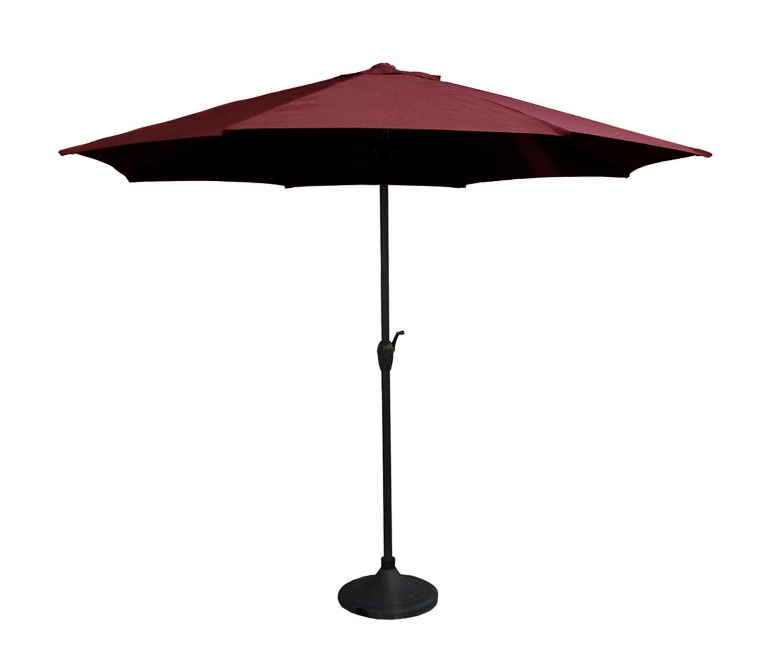 9 Outdoor Patio Market Umbrella With Hand Crank And Tilt