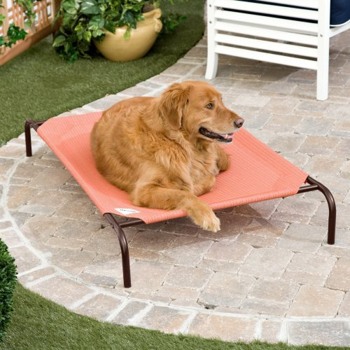 Coolaroo Elevated Pet Bed - Terra Cotta