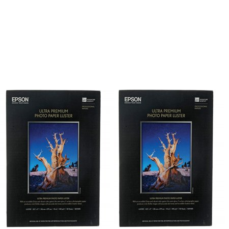 "Epson S041405 Ultra Premium 8.5"" x 11"" Photo Paper Luster 2-Pack"