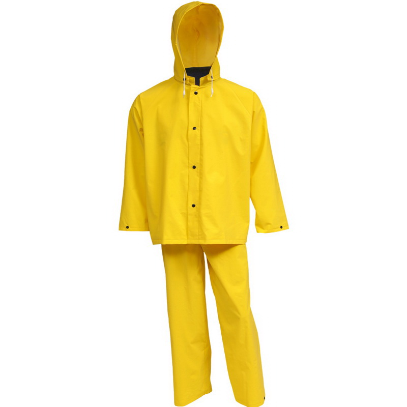 Heavy Duty Idustrial Rain Poncho Raincoat 35mm PVC Storm Waterproof Mens Coat XL
