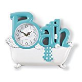 Bathtub Wall Clock Bubble Bath Spa Tub Decorative Bathroom Accent Decor