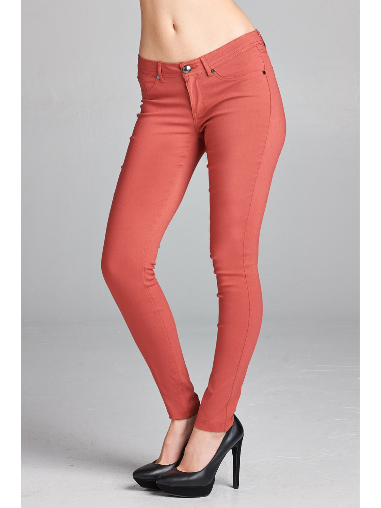 Low Waisted Skinny Fit New RRP £20 EX NEW LOOK Supersoft Red Ladies Jeans