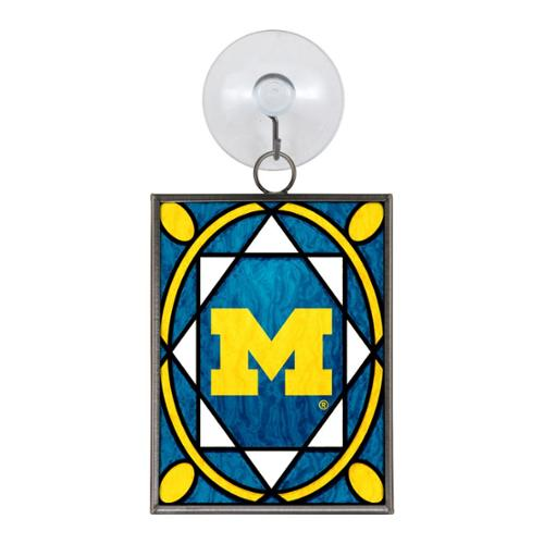 Michigan Wolverines Official NCAA 3 inch  Stained Glass Christmas Ornament by Topperscot