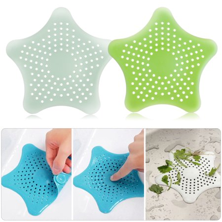- TSV Bathroom Drain Hair Catcher Bath Stopper Plug Sink Strainer Filter Shower Covers Green+Teal Green 2Packs