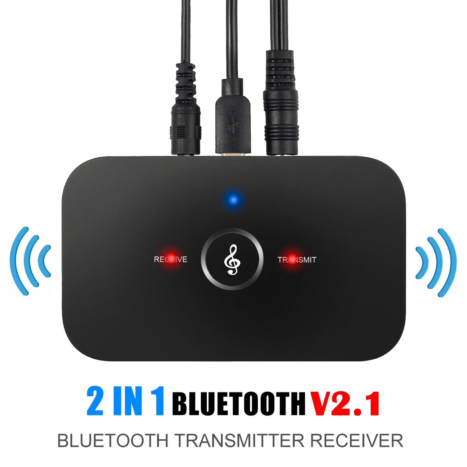 Bluetooth Transmitter and Receiver HIFI Stereo Audio Adapter with 3.5mm RCA Stereo Port For TV PC Music Streaming Sound Speakers Headphone MP3 MP4