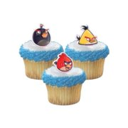 24 Angry Birds Cupcake Ring Toppers - Birthday Party Favors