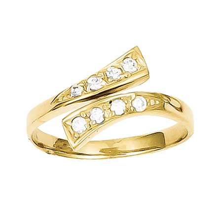 10k Yellow Gold CZ Toe Ring LAL72068