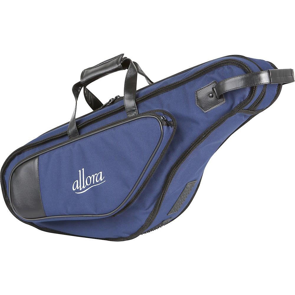 Allora Nylon Alto Saxophone Gig Bag Dark Blue Nylon with Exterior Pocket by Allora