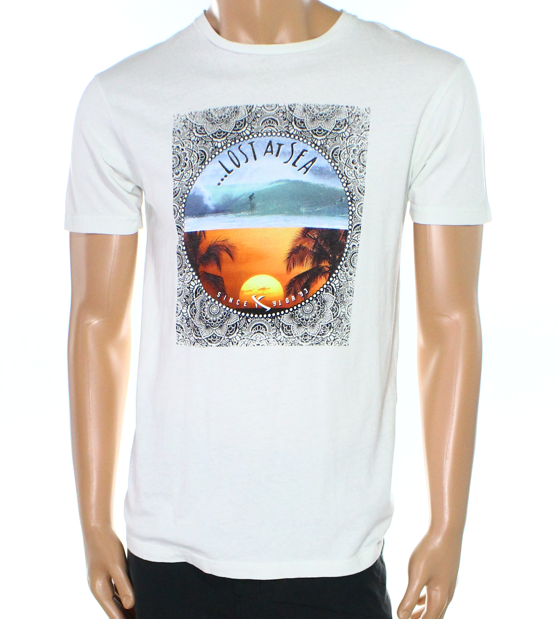 Lost Enterprise NEW White Ivory Mens Size Medium M Graphic Tee T-Shirt 014