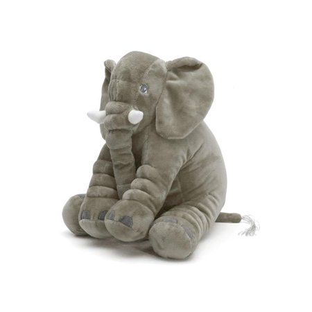 Soft Plush Stuffed Elephant Sleep Pillow Long Nose Baby Kids Lumbar Cushion Birthday Toy Gift (Batman Stuff For Kids)