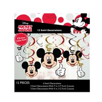 Mickey Mouse Hanging Decorations, 12ct