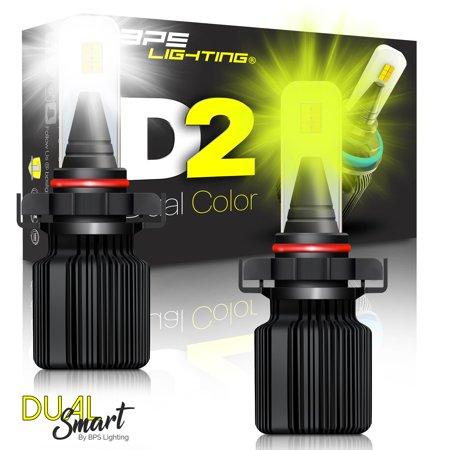D2 LED Headlight Bulbs 2504/PSX24 Smart Function Dual Color White/Yellow 8000Lm - image 11 of 11