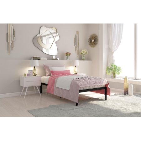 Ash Modern Bed - Signature Sleep Premium Modern Metal Platform Bed with Headboard, Multiple Finishes and Sizes