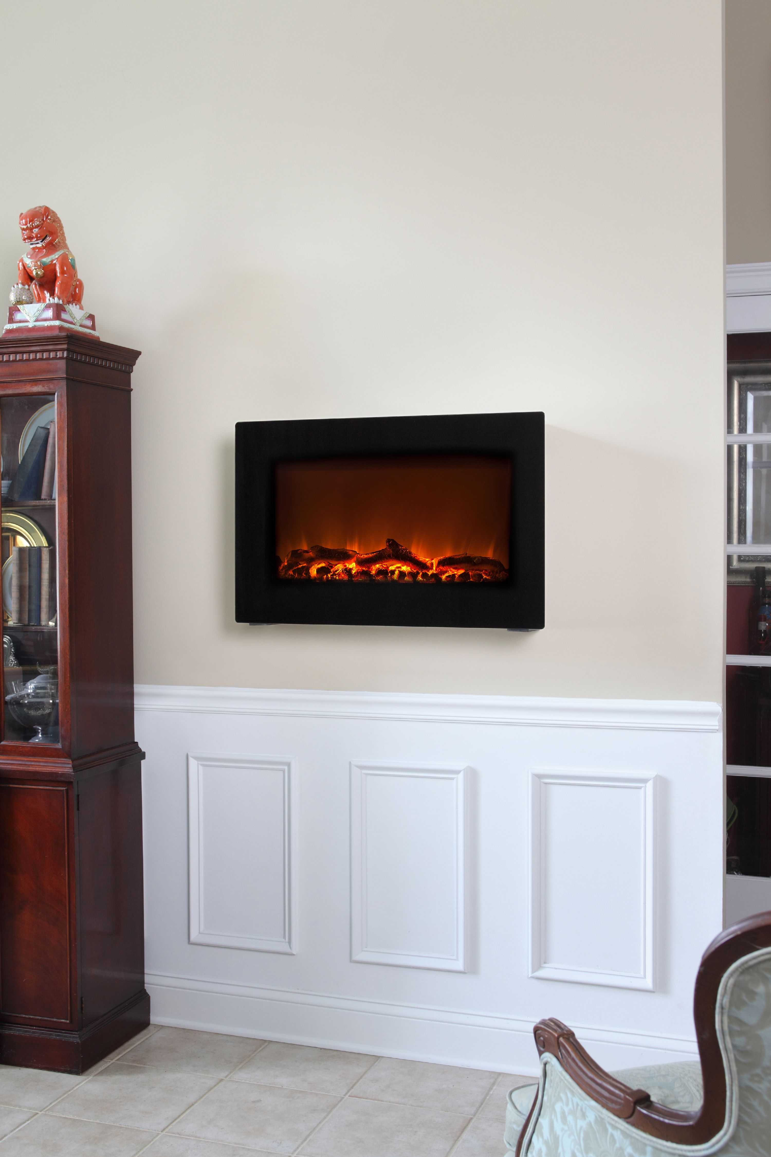 black wall mounted electric fireplace walmart com