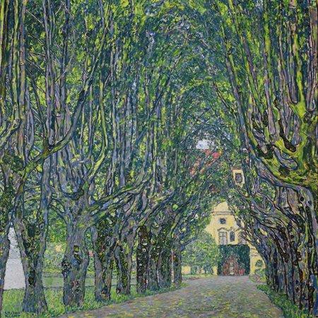 Avenue in the Park of Kammer Castle, 1912 Fine Art Landscape Print Wall Art By Gustav Klimt