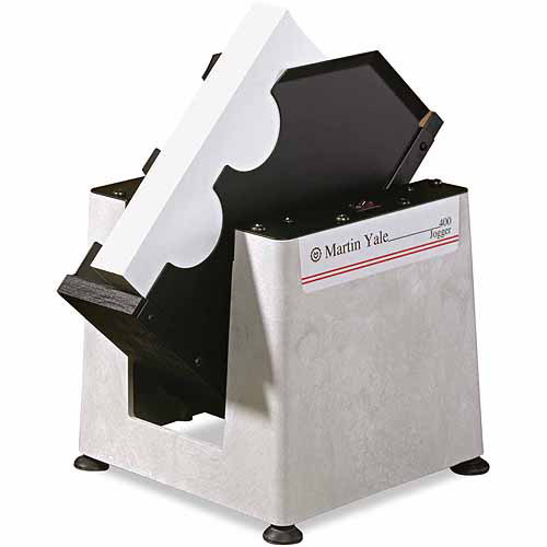 Martin Yale Tabletop Paper Jogger, 15-1/4 x 11-1/2 x 15-1/4, Gray