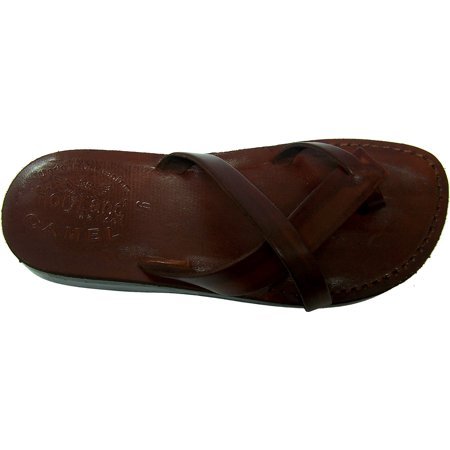 Holy Land Market Unisex Genuine Leather Biblical Flip flops (Jesus - Yashua) Paul Style I ()