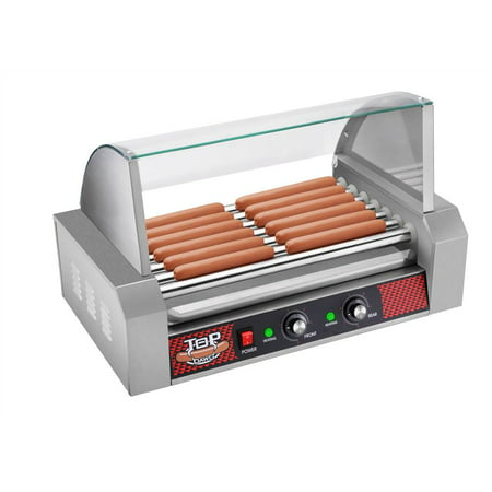 top dawg commercial seven roller hot dog machine with cover. Black Bedroom Furniture Sets. Home Design Ideas