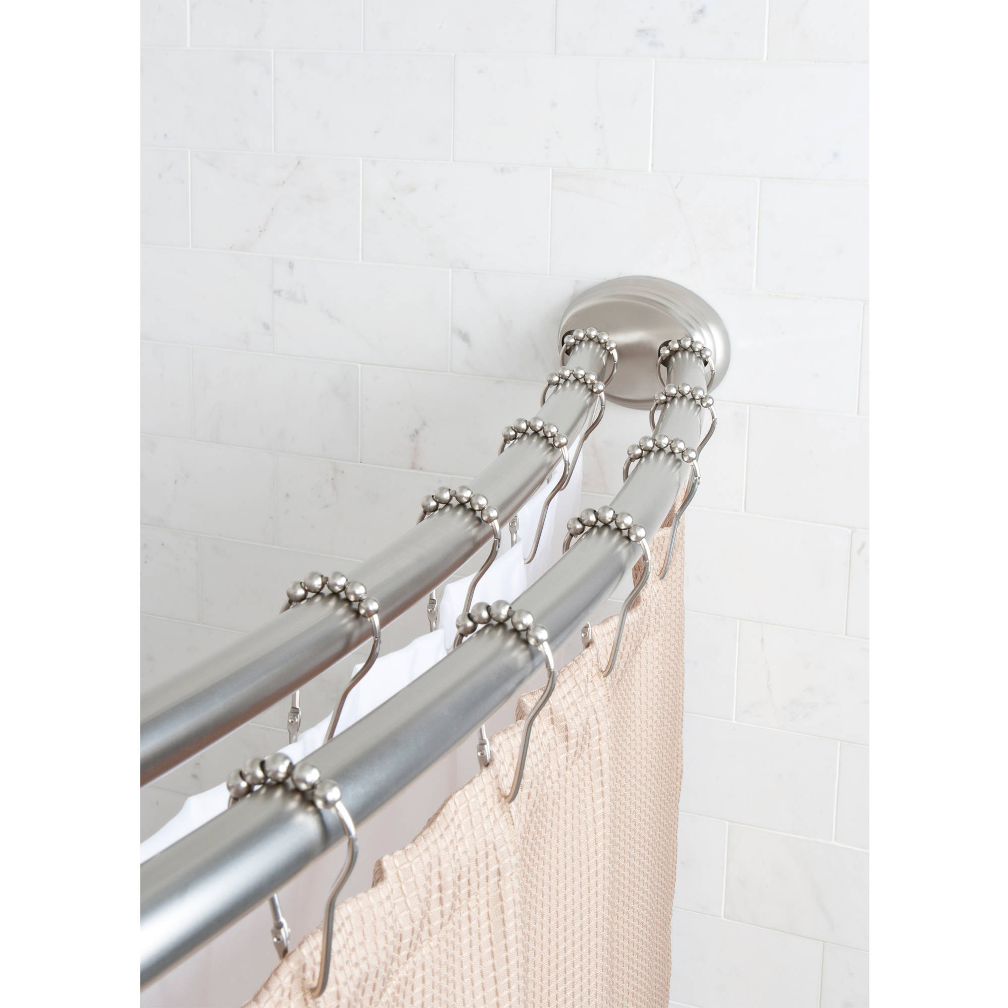 Beau Better Homes And Gardens Double Curved Tension Shower Curtain Rod    Walmart.com