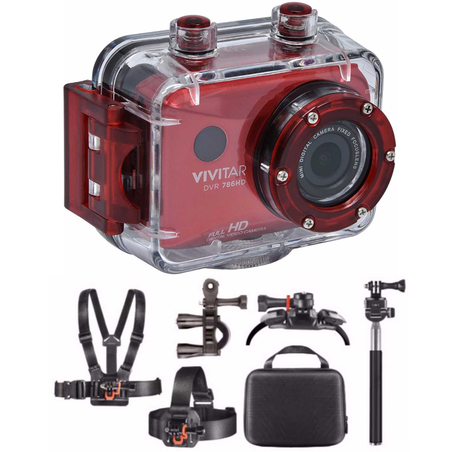 Vivitar DVR786HD Full HD Action Cam w/ Vivitar Adventure On Outdoor Action Kit